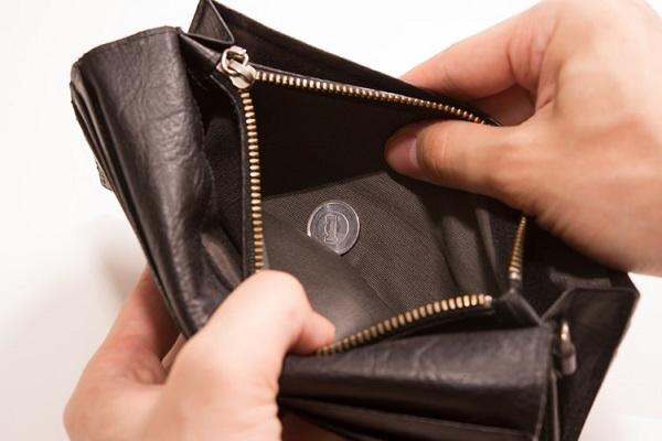 寿命の尽きた財布